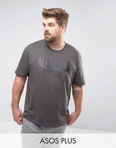 Свободная футболка с матовым принтом Metallica ASOS PLUS - Черный