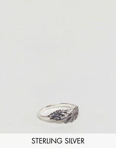 Серебряное кольцо с отделкой в виде крыла дракона ASOS - Серебряный
