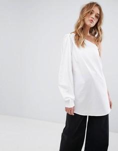 Рубашка на одно плечо Weekday - Белый