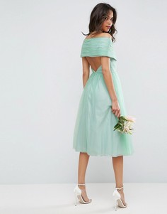 Тюлевое платье миди ASOS WEDDING - Зеленый
