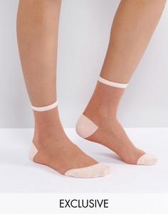 Носки металлик Monki - Розовый