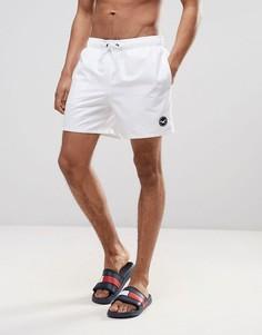 Однотонные шорты для плавания Hollister - Белый