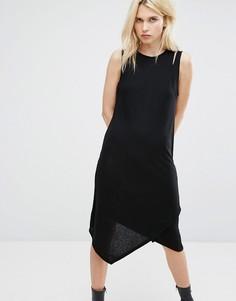 Двухслойное платье-майка в рубчик Cheap Monday - Черный
