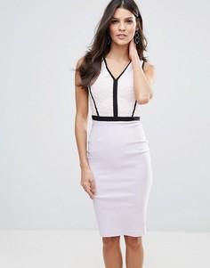 Монохромное платье-футляр Vesper - Фиолетовый