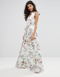 Мягкое платье с цветочным принтом Y.A.S - Мульти