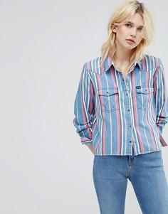 Укороченная рубашка в полоску Wrangler - Синий