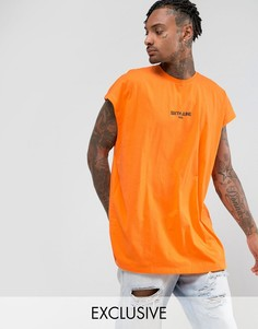 Оранжевая футболка без рукавов Sixth June - Оранжевый