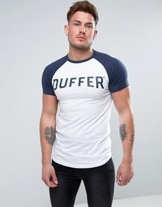 Белая футболка с рукавами реглан Duffer - Белый