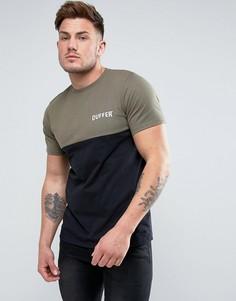 Черная футболка со вставкой Duffer - Черный
