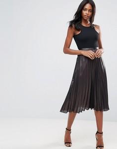 Плиссированная юбка миди Liquorish - Черный