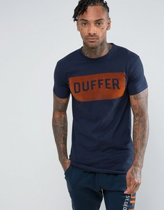 Темно-синяя футболка с логотипом Duffer - Темно-синий