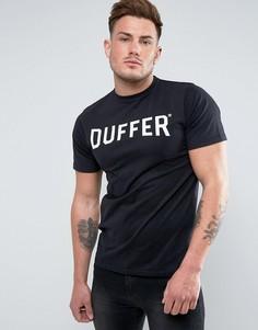 Черная футболка с логотипом Duffer - Черный
