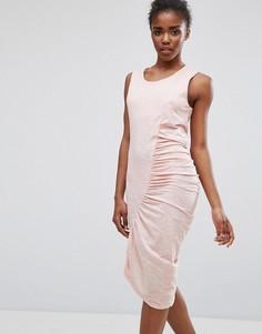 Асимметричное платье Minimum - Розовый