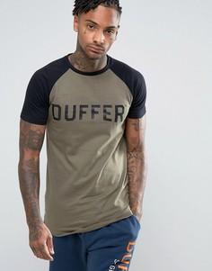 Зеленая футболка с рукавами реглан Duffer - Зеленый