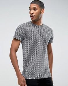 Жаккардовая футболка D-Struct - Серый