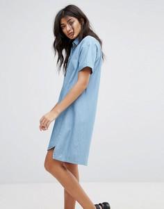Джинсовое платье-рубашка Native Youth - Синий