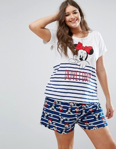 Пижамный комплект с Минни-Маус Yours Clothing - Мульти