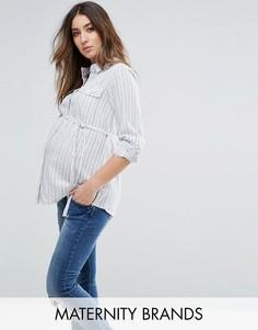 Рубашка в полоску с длинными рукавами Mamalicous - Мульти Mama.Licious