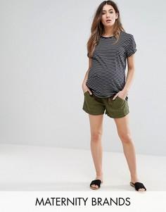 Льняные шорты Mamalicious - Зеленый Mama.Licious