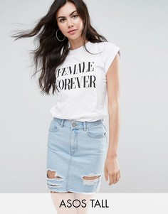 Футболка с принтом Female Forever ASOS TALL - Белый