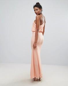 Платье макси с перекрестными бретелями на спине Club L - Розовый