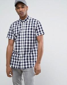 Узкая рубашка в клеточку с короткими рукавами Jack & Jones Originals - Белый