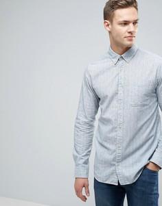 Узкая рубашка из мягкого хлопка в полоску Jack & Jones Vintage - Кремовый