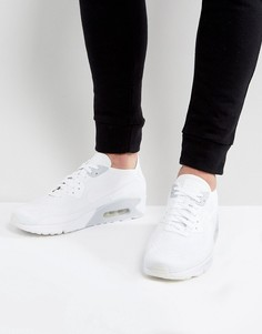 Белые кроссовки Nike Air Max 90 Ultra Flyknit 875943-101 - Белый