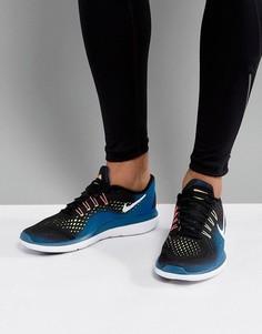 Синие кроссовки Nike Running Flex 2017 898457-003 - Синий