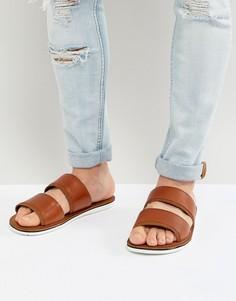 Кожаные сандалии-слипоны с двумя ремешками ALDO Delpizzo - Рыжий