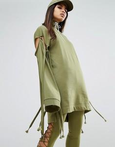 Свитшот с завязками на рукавах Puma X Fenty - Зеленый