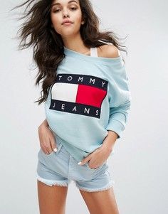 Свитшот в стиле 90-х Tommy Jeans - Синий
