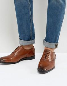 Светло-коричневые кожаные броги ASOS - Рыжий