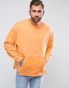 Oversize-свитшот со вставками ASOS - Оранжевый