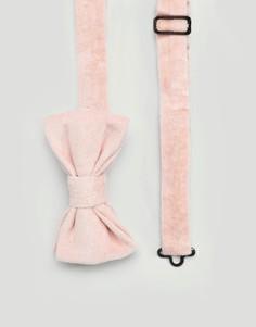 Розовый бархатный галстук-бабочка Devils Advocate - Розовый