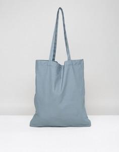 Синяя сумка-тоут ASOS - Серый