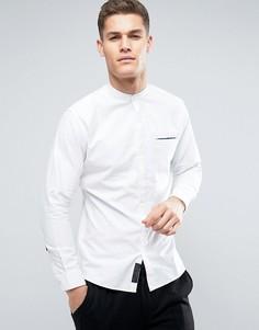 Рубашка из шамбре с воротником на пуговице и карманом Produkt - Белый