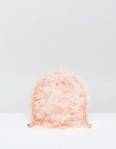 Мягкий клатч с цветами ASOS WEDDING - Розовый