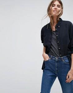 Черная выбеленная джинсовая рубашка ASOS - Черный