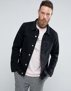 Черная джинсовая куртка Weekday Core - Черный