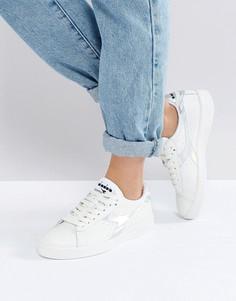 Низкие кроссовки с голографической отделкой Diadora Game - Белый