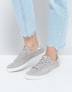 Серые низкие замшевые кроссовки Diadora Game - Серый