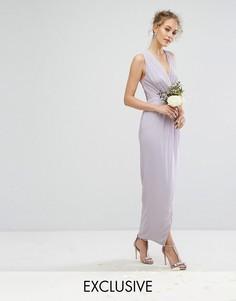 Платье макси с запахом TFNC - Фиолетовый