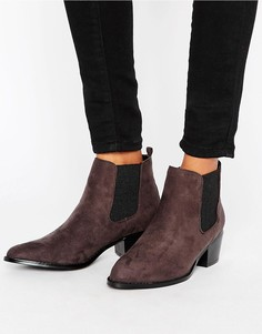 Ботинки челси с острым носком Head Over Heels - Серый