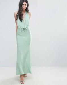 Платье макси с глубоким вырезом City Goddess - Зеленый