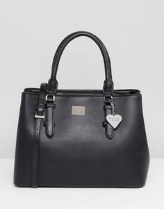 Черная минималистическая сумка-тоут с ремешком через плечо Marc B - Черный
