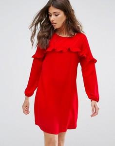 Платье мини с оборкой Only Alex - Красный