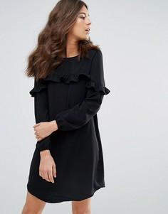 Платье мини с оборкой Only Alex - Черный