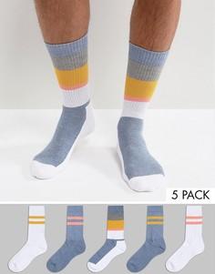 Набор из 5 пар носков в спортивном стиле ASOS - Мульти