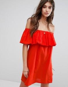 Пляжное платье с оборкой Billabong - Красный